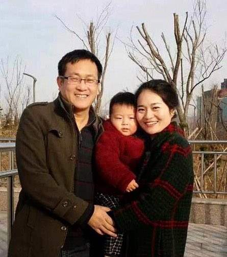 Chinese human rights lawyer Wang Quanzhang and his family. Photo: Private.