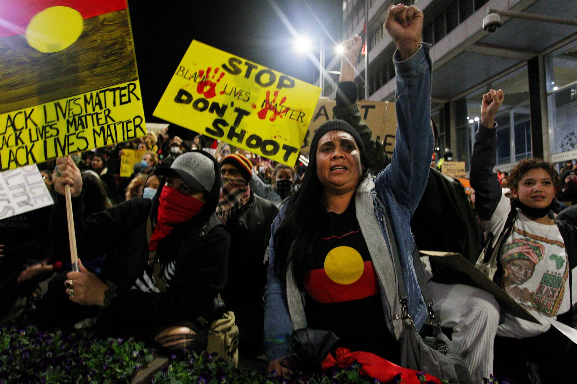 In a show of solidarity, protestors from around the world gathered to support the Black Lives Matter movement. Photo: Getty Images.
